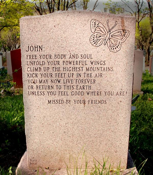 John hated butterflies.